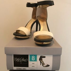 Target's Mossimo Vinta White Ankle Strap Heel